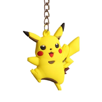 Pocket Monsters 3D Pokemon Cartoon PVC llavero