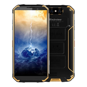 Blackview BV9500 5.7 Inch 4G LTE Smartphone Helio P23 4GB 64GB 16.0MP+0.3MP Dual Rear Cameras Android 8.1 IP68 Wireless Charging 10000mAh Type-C NFC