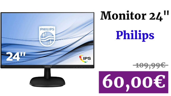 "Monitor IPS de 24"" Philips"