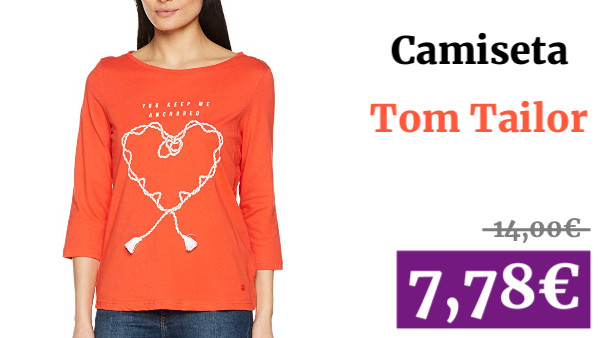 Tom Tailor Basic Print Shirt Camisa Manga Larga para Mujer