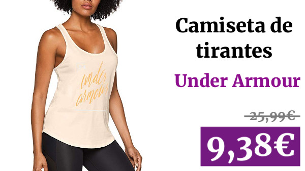Under Armour Graphic Script X-Back Tank - Tanque Mujer