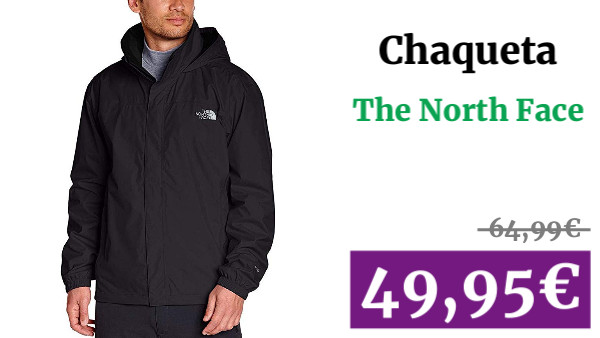 The North Face M Resolve Jacket Chaqueta Impermeable, Hombre, TNF Negro