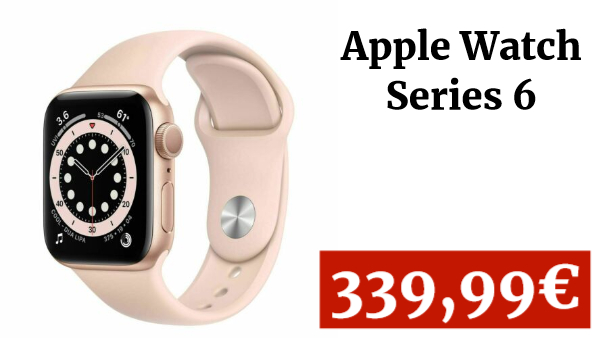 Apple Watch Series 6 GPS 40mm Gold Aluminium Case with Sport Band MG123