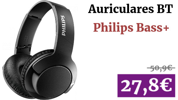 Auriculares Bluetooth Philips Bass+