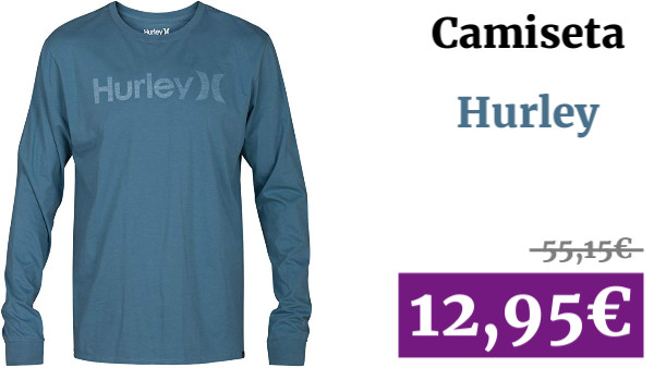 Hurley One&only Push Through Camiseta de Mangas Largas, Hombre