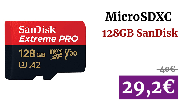 MicroSDXC 128GB +Adaptador