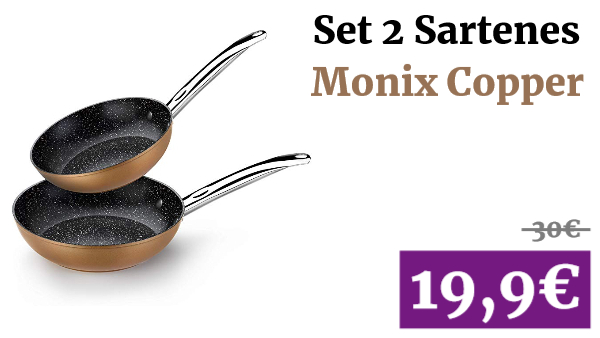 Set 2 Sartenes Monix Copper