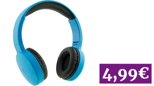 Ksix Auriculares Go&Play Travel Azul