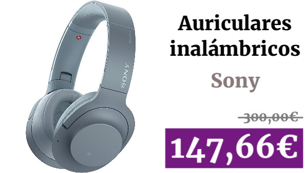 Sony WHH900N - Auriculares de Diadema inalámbricos (H.Ear, Hi-Res Audio, cancelación de Ruido, Sense Engine, Bluetooth, Compatible con aplicación Headphones Connect) Azul