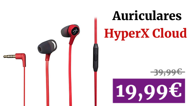 HyperX Cloud - Auriculares con micrófono Integrado, Color Rojo