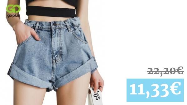 Pantalones Cortos De Mezclilla De Cintura Alta De Verano Para Mujer Pantalones Cortos Holgados De Talla Grande De Estilo Coreano Para Mujer Pantalones Cortos De Tela Para Mujeres Jenas Femeninas Spodenki Damskie Vadegangas