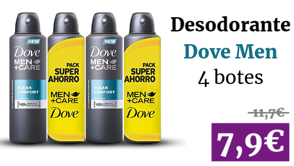 4 Desodorantes Dove Men