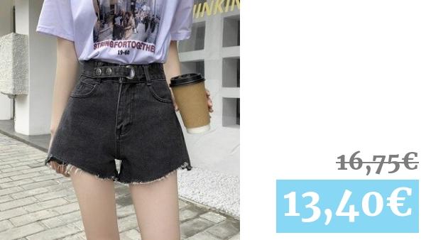 Pantalones Cortos De Mezclilla De Cintura Alta Para Mujer Pantalones Cortos De Verano A La Moda 2020 Negros Azules Claros Pantalones Cortos De Calle Para Mujer Pantalones Elegantes De Buena Calidad Vadegangas
