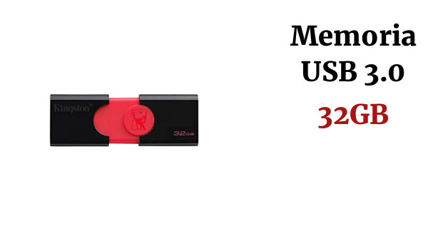 Kingston DataTraveler 106 (DT106/32GB) USB 3.0, Memoria Flash, 32 GB, Negro y Rojo