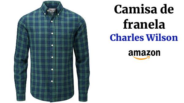 f72cd6afab890 Charles Wilson Camisa Franela de Cuadros Manga Larga para Hombre ...