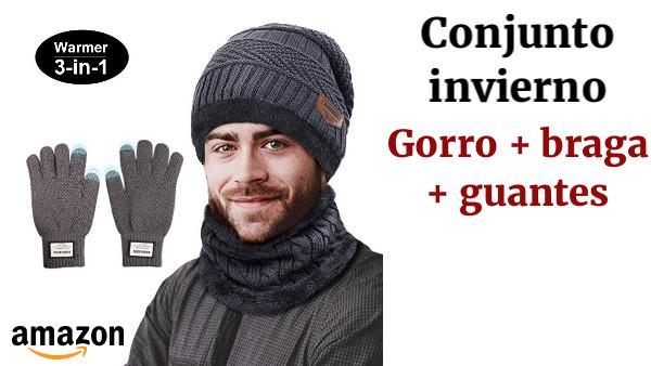 a51d975caa7c8 TedGem Gorro Invierno Hombre con Bufanda