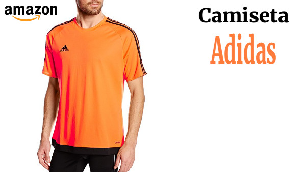 5b65afa34 adidas Estro 15 JSY - Camiseta para hombre, color naranja/negro, talla XL