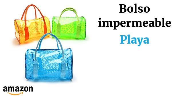 Mengonee Impermeable a prueba de humedad muchacha de las mujeres del bolso de la playa bolsas de mano port/átiles transparentes cierre de cremallera de nataci/ón bolsas de PVC