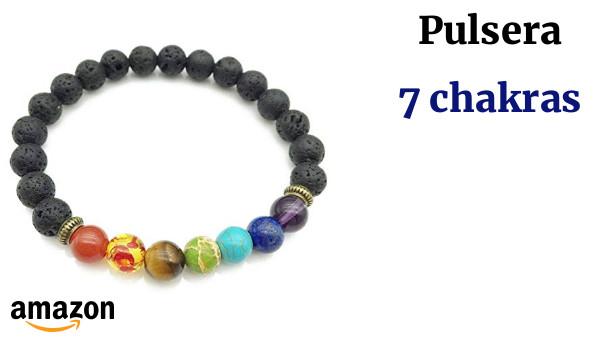 7b648399b4a7 SODIAL Pulsera de curacion de 7 chakras Pulsera de amuleto para ...
