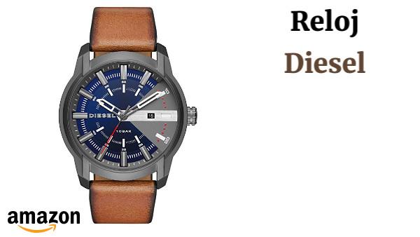 0f6e3e858f3a Diesel Reloj Analógico para Hombre de Cuarzo con Correa en Cuero DZ1784
