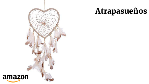 Atrapasueños Con Forma De Corazón Y Plumas De Aspecto Vintage Para
