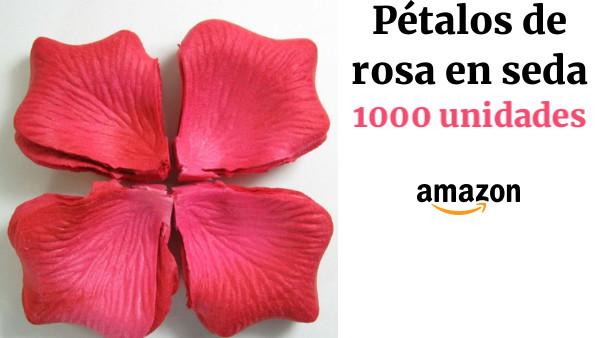 P/étalos de rosa de seda para bodas 100 unidades