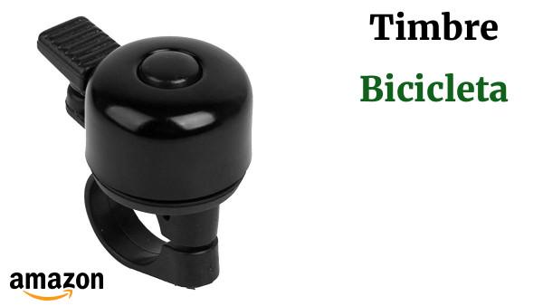 Timbre Campana Aro De Manillar Para Bicicleta Bici Aluminio Negro Handlebar Bell