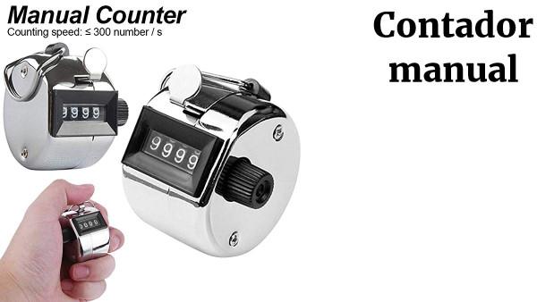 1x Contador Manual Click Clickeador Counter 4 Digito Metal