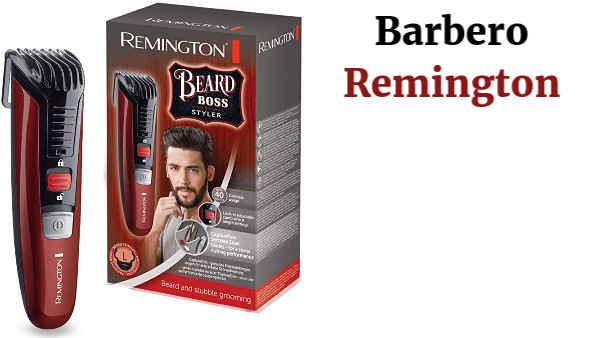 Remington Beard Boss Styler MB4125 - Barbero, cuchillas CaptureTrim, inalámbrico, peine ajustable con función de bloqueo
