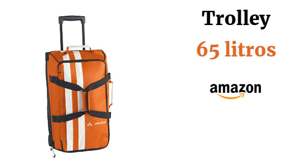 VAUDE Tobago 65 – Trolley grande para viaje – color orange, talla 65 Litros