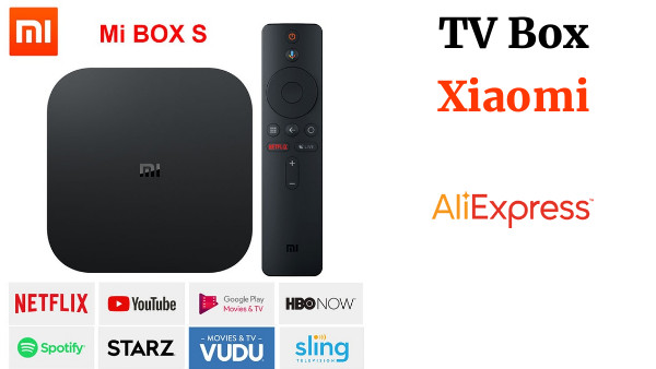 Xiaomi Mi Box S, Smart tv box android 8,1, 4 K HDR Quad Core 2G 8G WIFI Google Cast Netflix IPTV Set top Box 4 reproductor de medios
