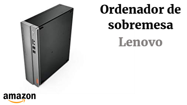 Lenovo Ideacentre 310S-08ASR - Ordenador de sobremesa (AMD A9-9425, 8GB RAM, 1TB HDD, AMD Radeon R5 Graphics, Windows10) Plata
