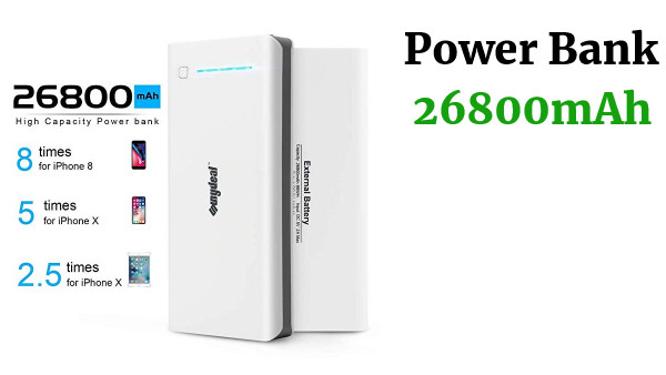Powerbank 26.800mAh 3USB