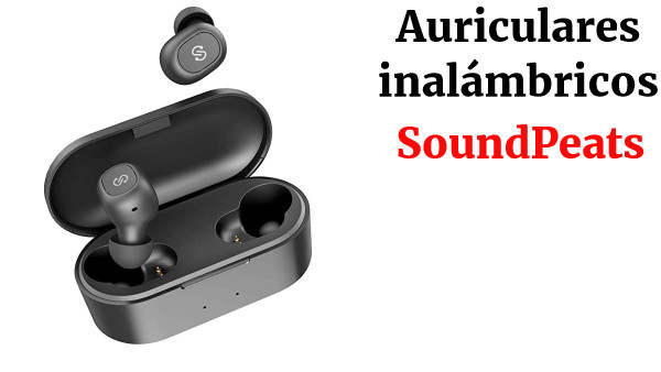 Auriculares TWS Bluetooth 5.0 SoundPEATS Truefree+ Cascos Inalámbricos In-Ear True Wireless Invisibles Sonido Estéreo Mini Audífonos Gemelos Manos Libres con Micrófono con Estuche de Carga