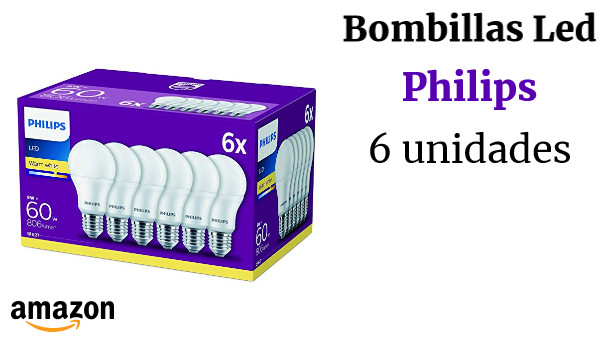Philips LED Bombilla, plástico, 9 W, color blanco