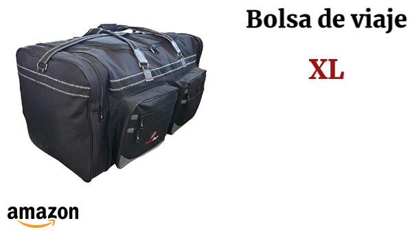 c804914a7 Bolsa de Viaje Grande Tamaño XL - Maleta de 100 Litros Extragrande Negra  Múltiples Bolsillos Asas