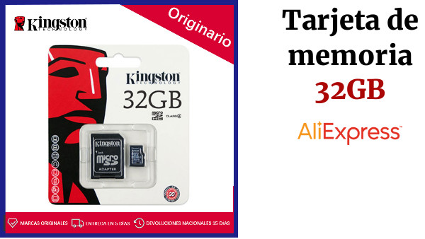 Kingston 32 GB - Tarjeta de memoria Micro SD Clase 4, 32 GB, MicroSDHC, Flash, Negro