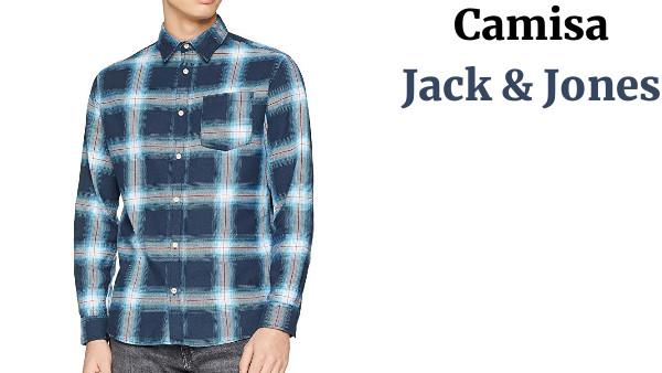 Jack /& Jones Jormason Shirt LS Org Camisa para Hombre
