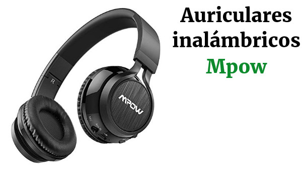 Mpow Thor Cascos Bluetooth Inalámbrico, Auriculares Bluetooth de Diadema con Micrófono Plegable Manos Libres y 3.5mm Cable de Audio para TV, PC, Movil, Mac, Negro