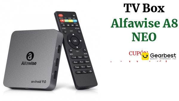 Alfawise A8 NEO Android 9.0 4K TV Box Quad Core CPU
