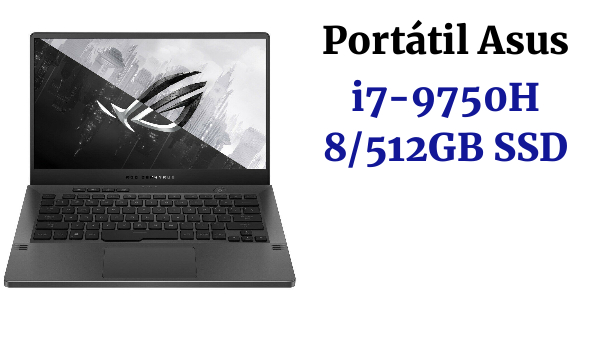 PORTATIL ASUS G531GU-AL003 CORE i7-9750H 8GB DDR4 GTX 1660Ti 6GB SSD 512GB 120Hz