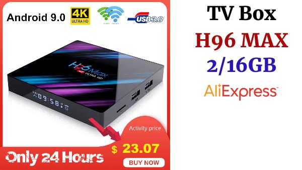 LEMADO H96MAX Android 9,0 TV Box Rockchip RK3318 2 GB RAM 16