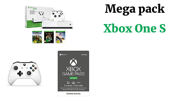 Xbox One S All Digital + Xbox Wireless Controller, Blanco + Suscripción Xbox Game Pass Ultimate - 3 Meses