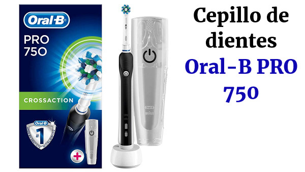 Oral-B PRO 750 CrossAction Pack Regalo, Cepillo de dientes eléctrico recargable