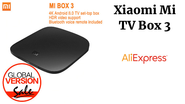 Versión Global Xiaomi mi TV Box 3 Android 8,0 4 K 8 GB HD WiFi Bluetooth Multi-idioma de Youtube reproductor multimedia inteligente DTS Dolby IPTV