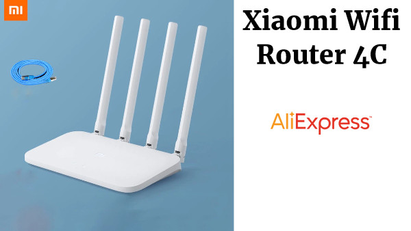 Xiaomi Wifi Router 4C Wifi de alta velocidad a través de la pared King Home red inteligente antiácaros 100 Mega de fibra óptica Router