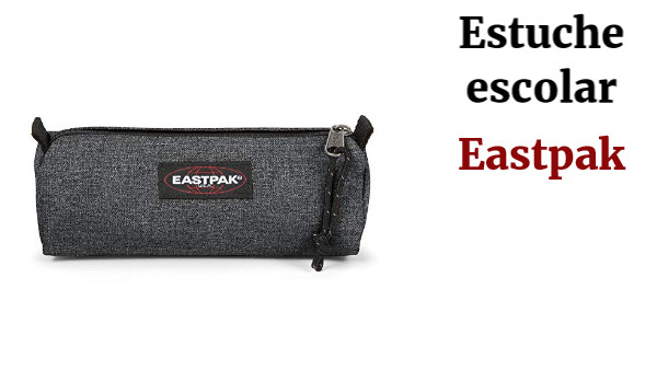Eastpak Benchmark Single Estuche, 21 cm, Gris (Black Denim), poliamida