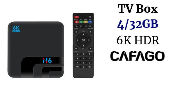 H6 Smart TV Box Android 9.0 Allwinner H6 UHD 4K Media Player 6K HDR 4GB / 32GB 2.4G WiFi 100M LAN USB3.0 H.265 VP9