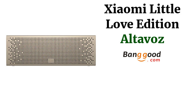 Original Xiaomi Wireless bluetooth 5.0 Speaker Xiaoai Version Portable Xiaomi Square Box Speaker Metal Dual Units Stereo Subwoofer with Mic - Gold