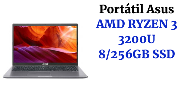 PORTATIL ASUS S512DA-EJ578 AMD RYZEN 3 3200U 8GB DDR4 SSD 256GB FULL HD NO OS